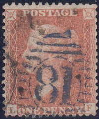 "107517 - LONDON ""81"" DISTRICT CANCELLATION IN BLUE/PL.36 (LF)(SG29)."