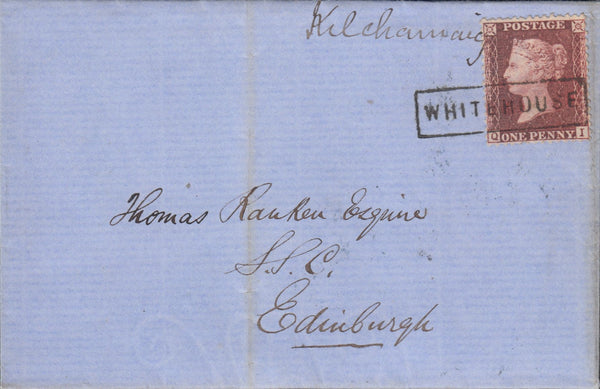 "107558 - ""WHITEHOUSE"" TYPE VIII SCOTS LOCAL ON COVER (CO. ARGYLL PARENT POST OFFICE TARBERT)."