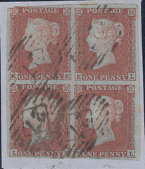 108431 - PL.154 (SG8) BLOCK OF FOUR LETTERED KK KL LK LL.