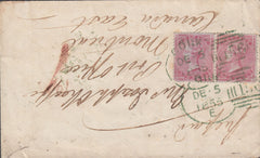 108475 - CORK ENGLISH TYPE IRISH SPOON IN GREEN ON COVER TO CANADA/4D CARMINE (SG62) X 2.