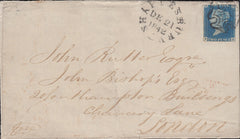110624 - 1840 2D BLUE PL.1 (SG5), USED IN DORSET.