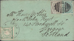 114312 1873 GB USED IN PERU ON COVER.