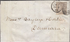 114758 1877 4D GREY-BROWN PL.17 WATERMARK LARGE GARTER (SG154) ON COVER.
