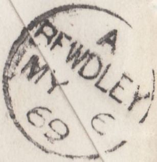117174 1869 'HOUSE.OF.COMMONS' DATE STAMP ON ENVELOPE TO BEWDLEY.