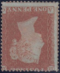 118184 1854 DIE 1 1D PL.176 MATCHED PAIR S.C.16 (SG17) LETTERED AG, UNUSED WITH INVERTED WATERMARK (SG17Wi).