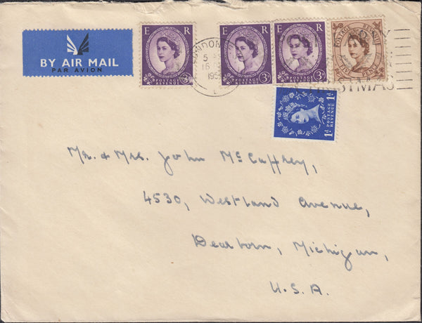 118313 1954 MAIL LONDON TO USA.