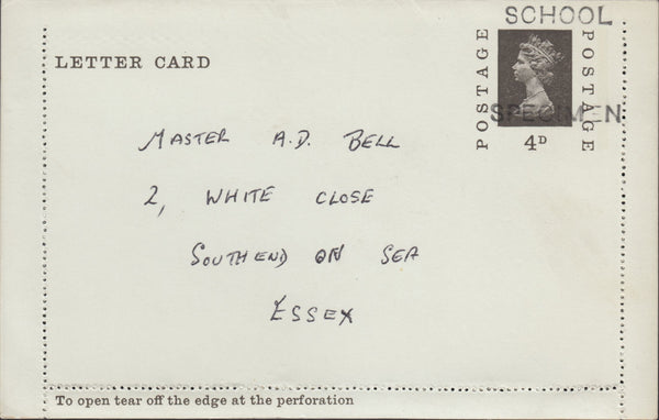118534 1969 4D SEPIA LETTER CARD/POST OFFICE TRAINING.