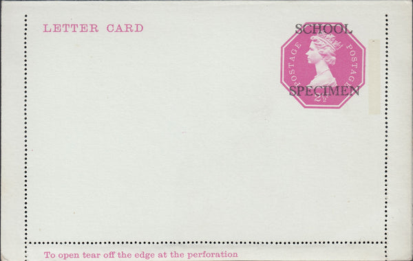 118536 1971 2½P ROSE-PINK  LETTER CARD/POST OFFICE TRAINING.