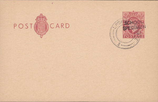 118556 1951-53 KGV1 2D RED-BROWN POST OFFICE POST CARD/POST OFFICE TRAINING.