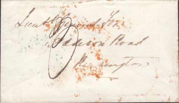 118738 1855 CRIMEAN WAR MAIL TO KENSINGTON.