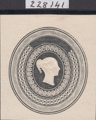 118944 1840 ORIGINAL WHITING EMBOSSED ESSAY FOR STAMPING PAPER AS FIG. 21 SG SPEC CATALOGUE.