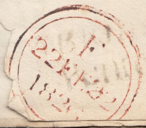 119670 1826 DORSET/'BRIDPORT PENNY POST' HAND STAMP (DT118)/'BEAMINSTER' HAND STAMP (DT10).