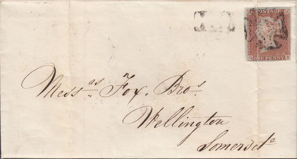 119684 1843 MAIL CHARMINSTER TO WELLINGTON SOMERSET/DORCHESTER PENNY POST.