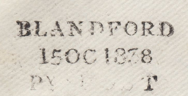 119700 1838 DORSET/'BLANDFORD PENNY POST' HAND STAMP (DT56).