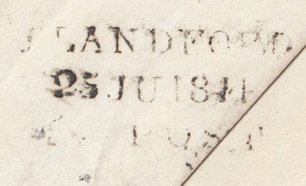 119709 1844 DORSET/'BLANDFORD PENNY POST' HAND STAMP (DT56).