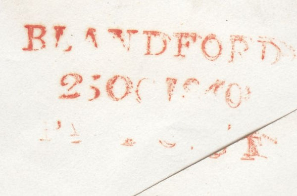 119719 1840 DORSET/'BLANDFORD PENNY POST' HAND STAMP (DT56).
