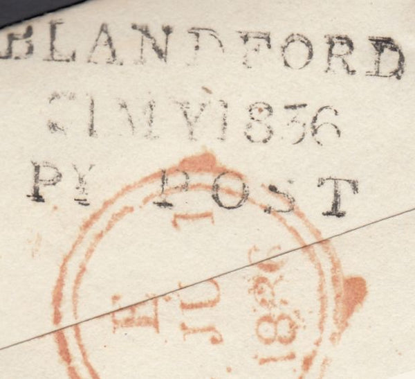119723 1836 DORSET/'BLANDFORD PENNY POST' HAND STAMP (DT56).
