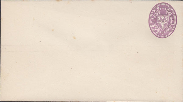 119777 1876 HERTFORD COLLEGE OXFORD ½D MAUVE ENVELOPE (108 X 60MM).