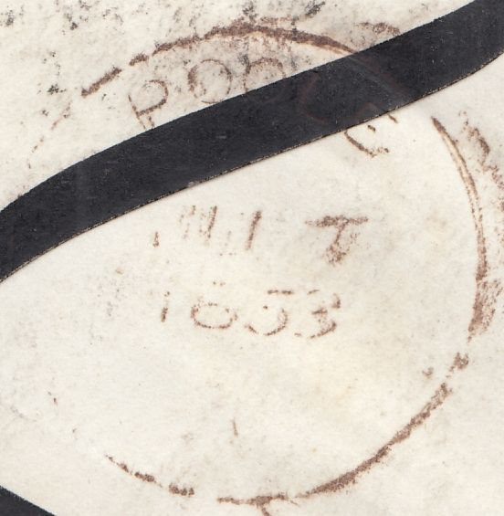 119795 1853 DORSET/'POOLE' SKELETON STYLE DATE STAMP (32MM).