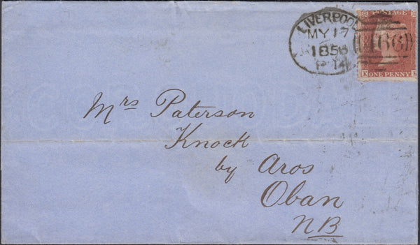 120148 PL.31 (SG29)(KK) ON COVER LIVERPOOL TO OBAN WITH GOTHIC K'S (SPEC C8j).