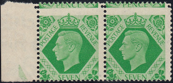 124255 1939 7D EMERALD GREEN (SG471) ERROR OF PERFORATION.