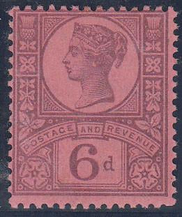 12965 - 1887 6d Jubilee (SG 208). A good o.g. example, sev...
