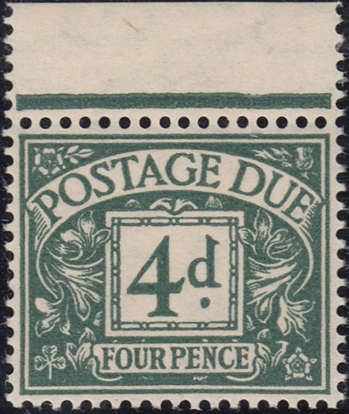 14130 - 1937 4d Dull Grey-Green Postage Due (SG D31). A su...