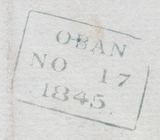 21492 - THE BLUE 1844 '273' SCOTTISH NUMERAL OF OBAN ON CO...