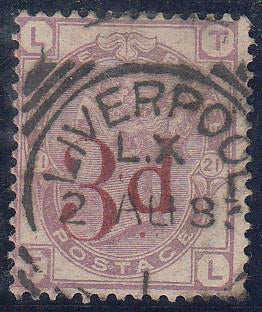 29849 - 1883 3d on 3d lilac (SG 159). A good used example ...