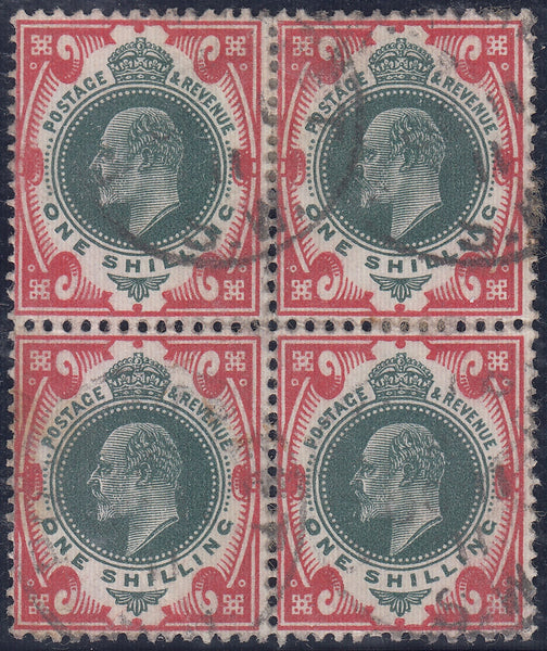 29931 - 1911 1/- green and scarlet (SG 313Var Spec. M47(4))....