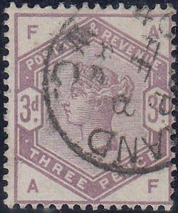 30690 - 1883 3d lilac (SG 191). A very fine used example l...