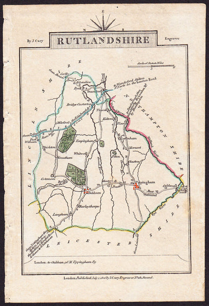 31245 - MAP OF RUTLANDSHIRE. A fine copy of the 1806 map b...