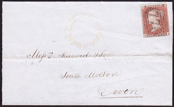 38327 - STOGUMBER UDC (under Taunton)/PLATE 85 (KK). 1849 large part wra...