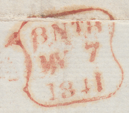 39843 - Pl.12 (RB)(SG8) ON COVER. 1841 letter used locally in Londo...
