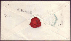 39894 - 1851 WARWKS/'KNOWLE' HAND STAMP(WA202)PL.113(JJ)(SG8). 1851 envelope used locally in Birmingham bearing t...