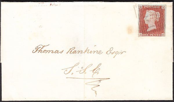 40947 - PL.79(IC)(SG8). 1849 wrapper used locally in Edinb...