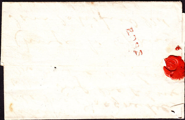 41075 - 1829 HEREFORDSHIRE/'ROSS' STRAIGHT LINE HAND STAMP (HF 384).