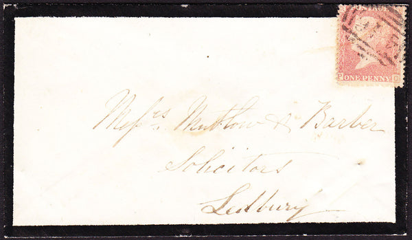 41080 - 'TARRINGTON' UDC (Herefordshire). 1857 envelope us...