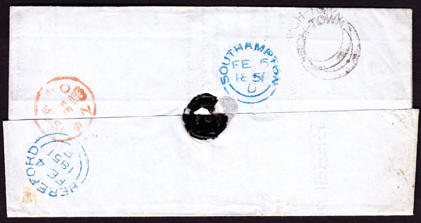 41139 - 1851 HEREFORDSHIRE/'HIGH-TOWN' UDC. Letter Her...
