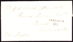 41248 - 1804 HEREFORD/FREE MAIL HEREFORD TO CIRENCESTER. Wrapper Hereford to Stroud, sent without char...