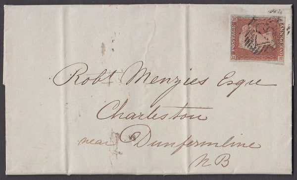 42542 - Pl.68(HB)(SG8). 1847 wrapper London to Dunfermline...