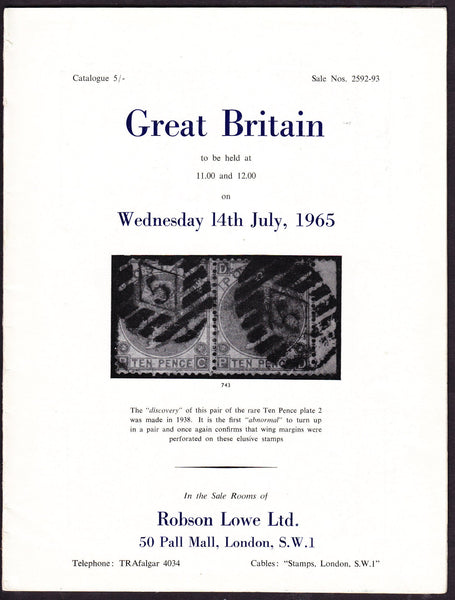 43924 - ROBSON LOWE GREAT BRITAIN SPECIALISED 1965 14th Ju...