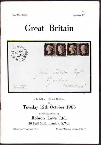 43926 - ROBSON LOWE GREAT BRITAIN SPECIALISED 1965 12th Oc...