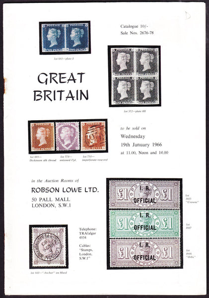 43927 - ROBSON LOWE GREAT BRITAIN SPECIALISED 1966 19th Ja...