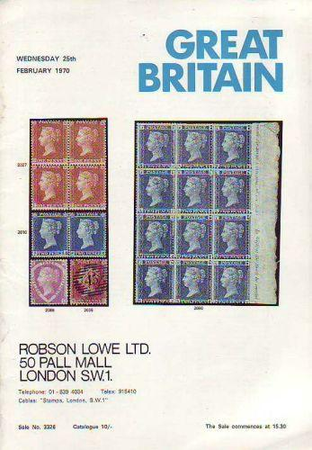 43950 - ROBSON LOWE GREAT BRITAIN SPECIALISED 1970 25th Fe...