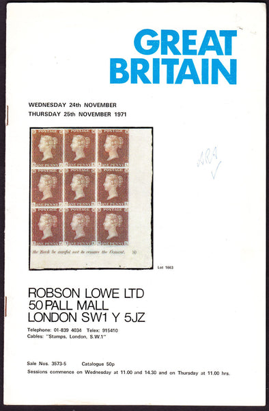 43958 - ROBSON LOWE GREAT BRITAIN SPECIALISED 1971 24th-25...