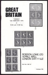 43969 - ROBSON LOWE GREAT BRITAIN SPECIALISED 1974 12th Fe...