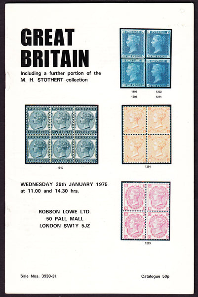 43977 - ROBSON LOWE GREAT BRITAIN SPECIALISED 1975 29th Ja...