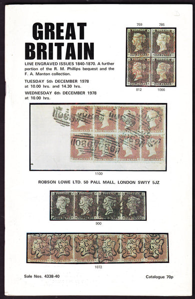 44000 - ROBSON LOWE GREAT BRITAIN SPECIALISED 1978 5th and 6...