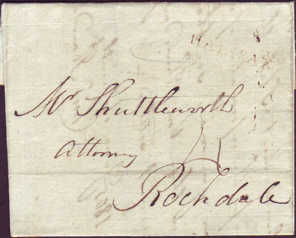 46952 - YORKSHIRE. 1805 letter Halifax to Rochdale with li...